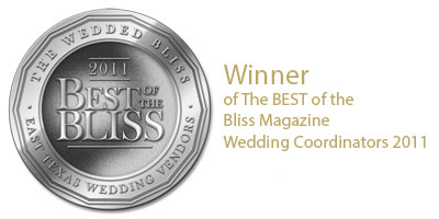 2011's Best of the Wedded Bliss for East Texas Wedding Vendors